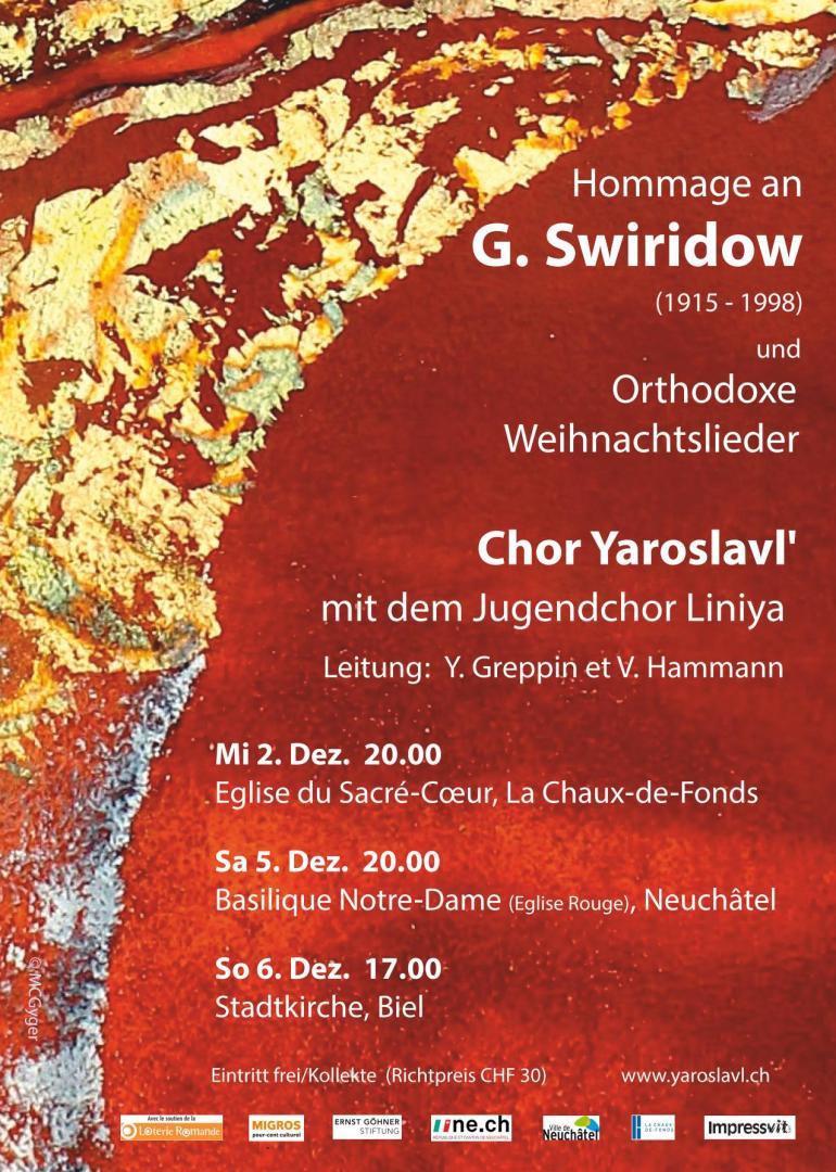 Hommage an G. Sviridov (1915-1998). Orthodoxe Weihnachtslieder   agenda